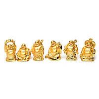 Статуэтки Будды 6 штук в наборе привлекут в дом денежный достаток и процветание