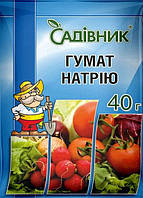 Удобрение Гумат Натрия, 40 г, Агрохимпак, Украина