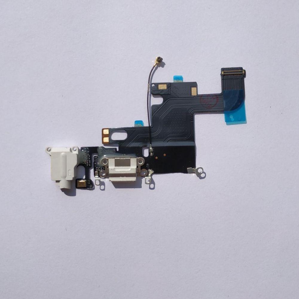 Шлейф Novacel для Apple iPhone 6 коннектора зарядки коннектора навушників з компонентами White