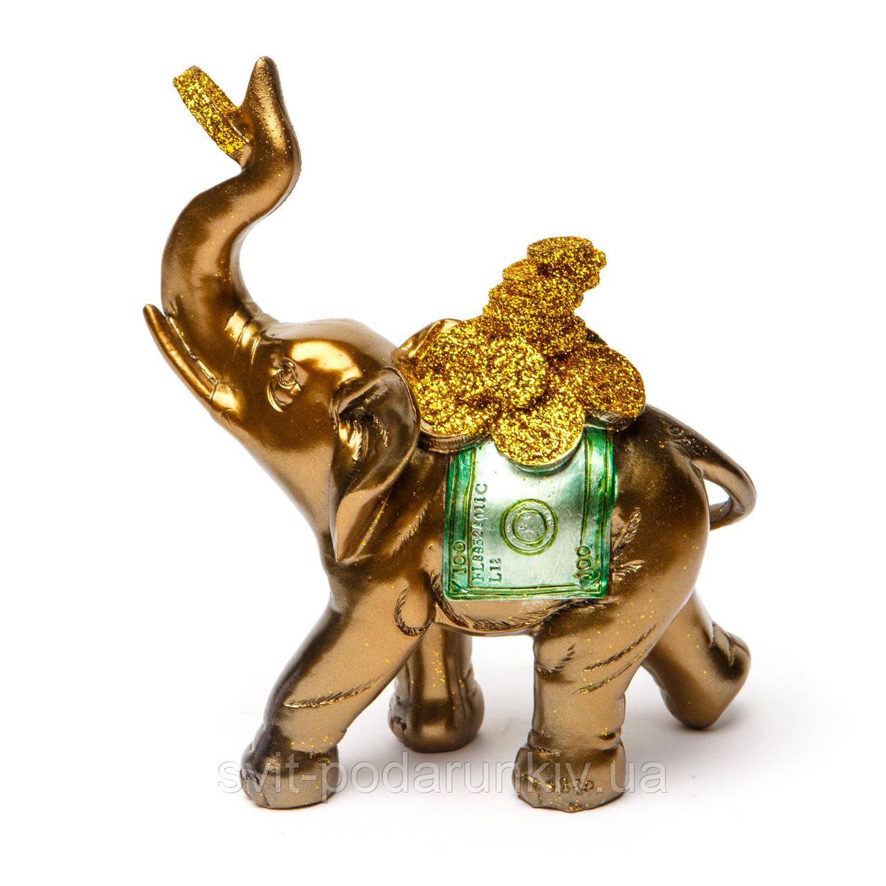 Статуэтка слона с монетками для увеличения благосостояния S4831