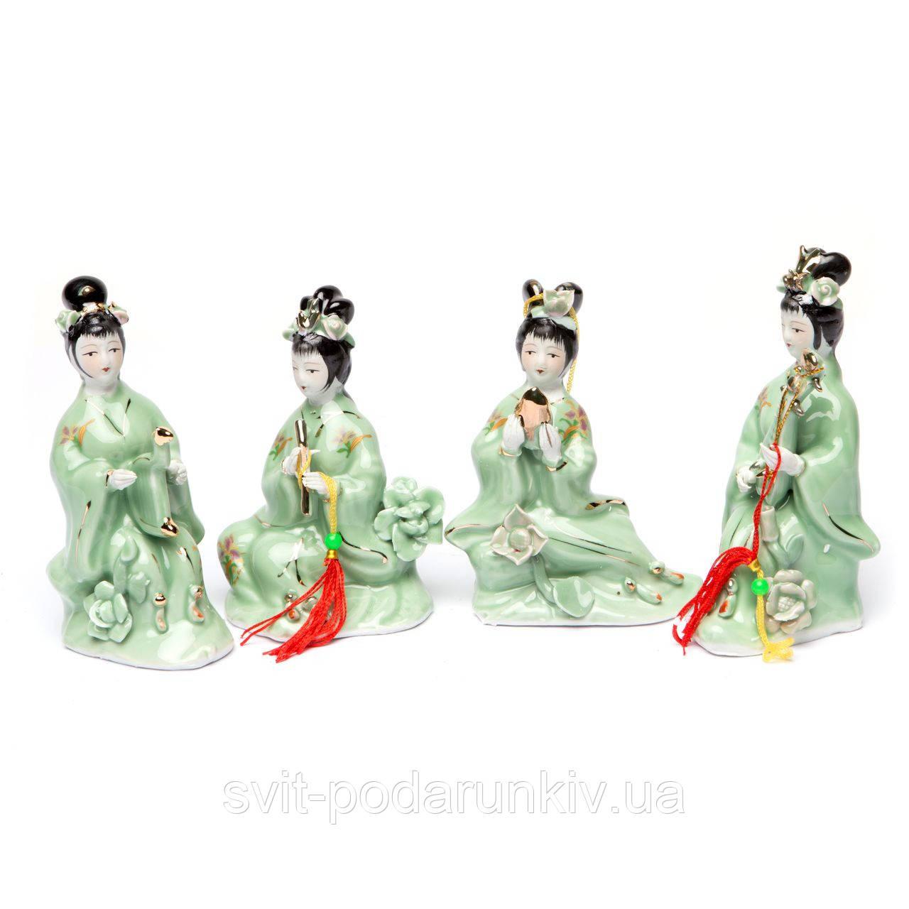 Японские фарфоровые статуэтки девушек GRS7