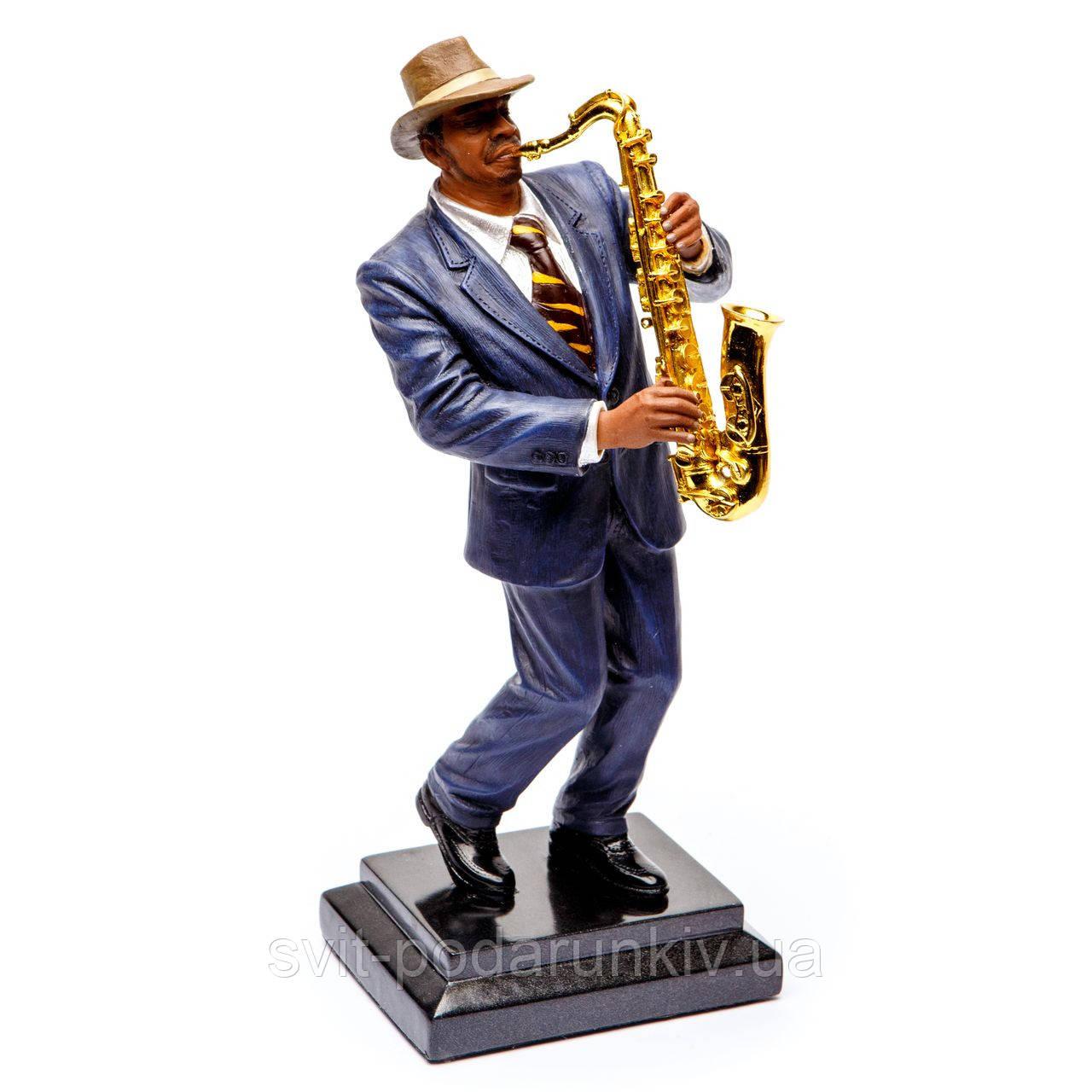 "Фигурка саксофонист ""Статуэтка музыканта играющего на саксофоне"" S529"