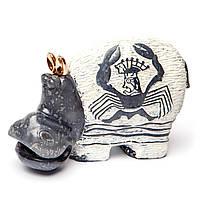 Фигурка бегемота бело-чёрная с рисунком S37503 S37504 S37505 S37506