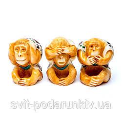 Статуэтка 3 обезьяны символ мудрости, удачливости и таланта на Востоке