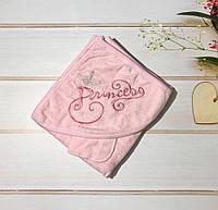 Детское полотенце с уголком. Принцесса