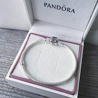Пандора стиль браслет. Основа с логотипом Pandora 19 см