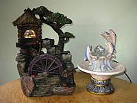 Фонтан дельфины шар подсветка декоративный комнатный настольный садовый домашний