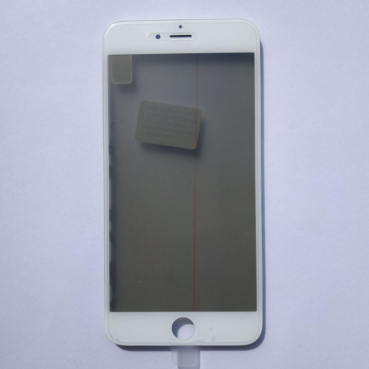 Скло корпуса Apple iPhone 6 Plus з рамкою, OCA плівкою, поляризаційної плівкою White