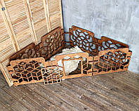 Вольер для собаки КІТ-ПЕС by smartwood   Ограждение для собак в квартире   Манеж для собаки из дерева