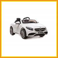 Электромобиль Детский Ездовой Городской Mercedes-Benz S 63 Б Для мальчиков Белый