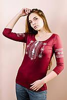 Красивые Вышиванки Женские М-711-23 р: S, M. Футболка вышиванка трикотажная