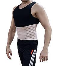 Мужской корсет, мужской бандаж, бандаж для спортзала, бандаж для мужчин, пояс утягивающий, корсет бежевый