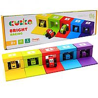 Детский деревянный конструктор Cubika (Кубика) Левеня, Цветные гонки, 25 деталей (14859)