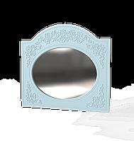 Зеркало овальное  Амели голубое