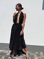 Коктейльное платье с открытой спинкой