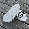 Super Girl белые на танкетке Шлепки резиновые тапочки на платформе тапки женские пляжные шльопанці білі, фото 4