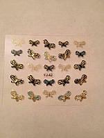 Наклейки на ногти 3Д бабочки