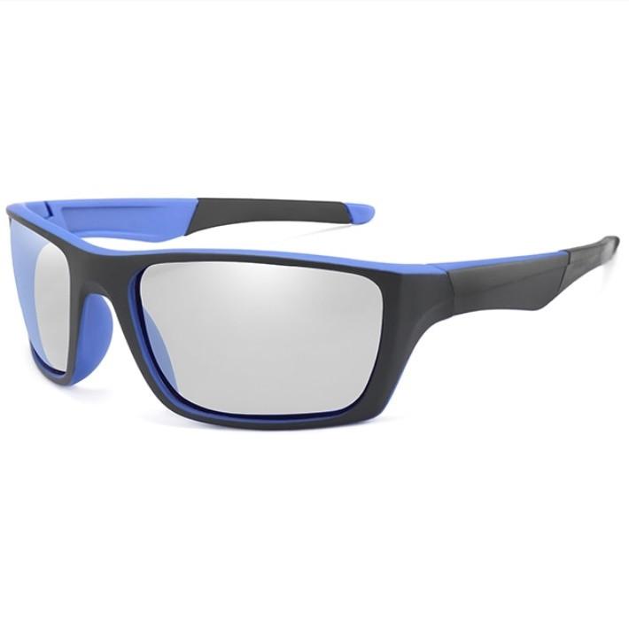 Фотохромные спортивные очки KP1082-BS Черный+Синий