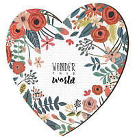 Панно сердце Wonder this world 18*18 см (S18_17L069)