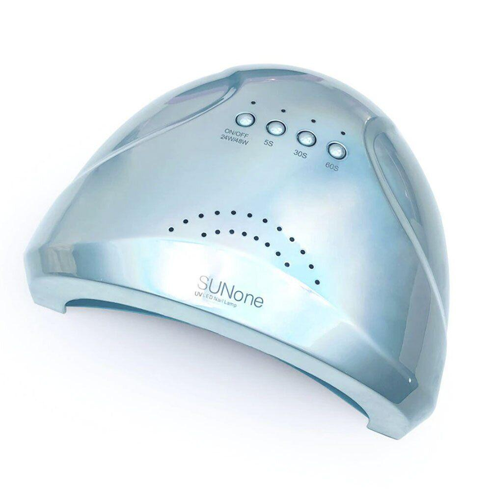 Лампа для ногтей и шеллака SUN One 1 UV+LED 48 Вт, Голубая перламутровая