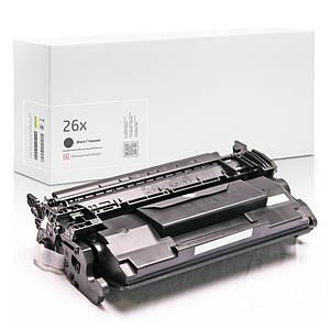 Совместимый картридж HP 26X (CF226X), чёрный, увеличенный ресурс, 9.000 копий, аналог от Gravitone