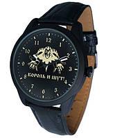 Часы мужские наручные Король и Шут (КИШ), черные, кварцевые