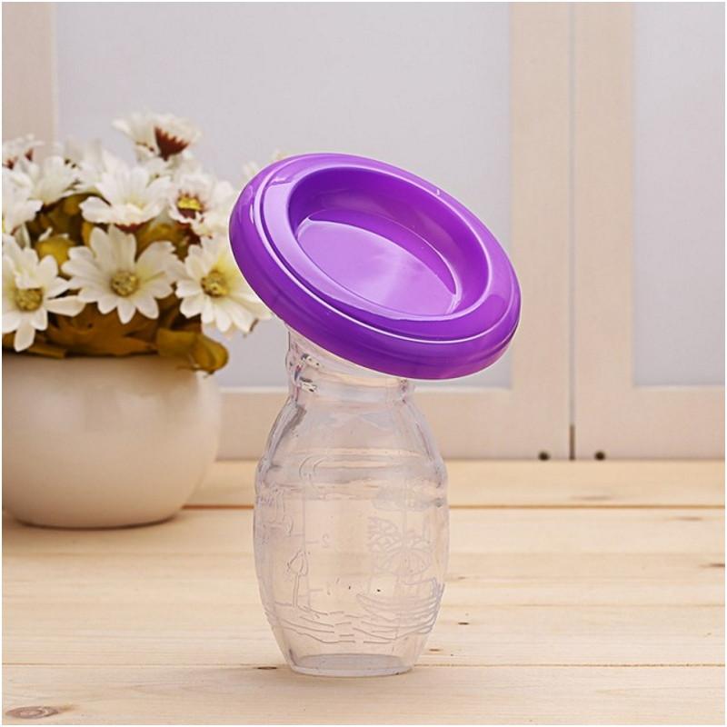 Молокоотсос силиконовый SLINGOPARK (фиолетовый)