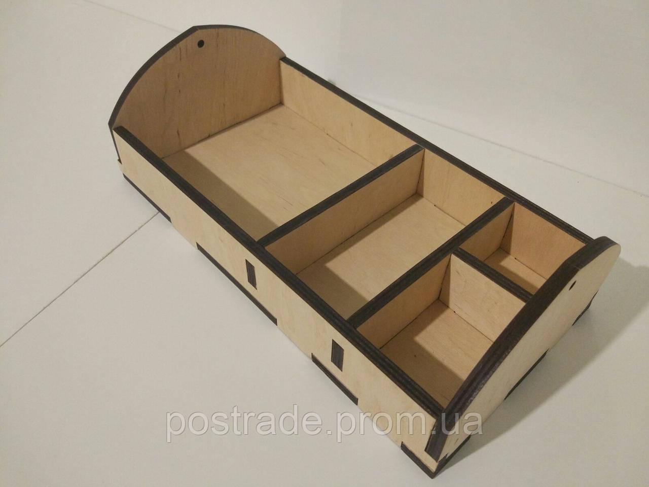 Органайзер барный деревянный на 4 отдела