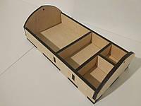 Органайзер барный деревянный на 4 отдела, фото 1