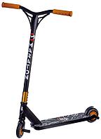 Трюковый Самокат Maraton G-Shock черный с пегами, колеса PU Полиуретан, 110 мм
