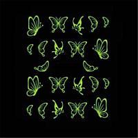 Светящиеся бабочки для маникюра дизайн ногтей, фото 1
