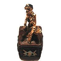 Статуэтка африканской женщины со шкатулкой 7626 D