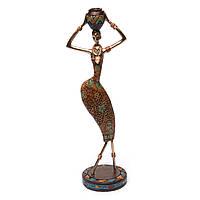 Фигурка африканской женщины с кувшином 7597 C