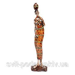 Декоративная статуэтка африканской женщины 7177 C