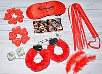 """Секс набор для взрослых с наручниками и плеткой  """"Hot Night""""., фото 1"""