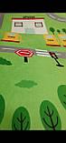 """Безкоштовна доставка! Килим в дитячу """"Містечко"""" зелений"""" утеплений килимок мат (1.5*2 м), фото 4"""