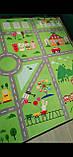 """Безкоштовна доставка! Килим в дитячу """"Містечко"""" зелений"""" утеплений килимок мат (1.5*2 м), фото 5"""