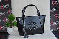 Черная женская кожаная сумка, фото 1
