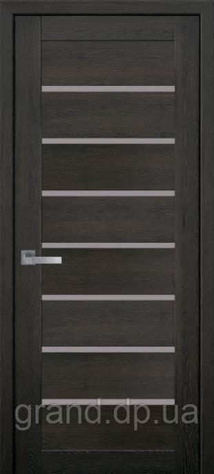 Межкомнатные двери Новый Стиль Леона ПВХ ULTRA с матовым стеклом цвет дуб мускат