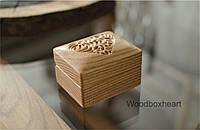 Деревянная коробочка для помолвочного кольца