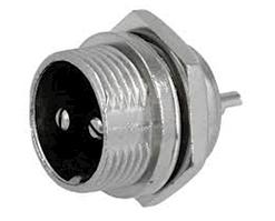 Разъём MIC 332, (штекер), монтажный, 2pin, диам.-16мм