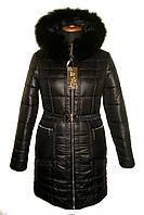 Зимняя куртка с мехом, разные цвета(р. 42-56) 23 черный, фото 1