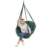 Качеля темно-зеленая нагрузка 200 кг подвесное кресло качель темно-зеленое
