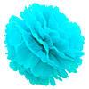 Декор бумажные Помпоны 35см (голубой 0001)