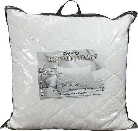Подушка гипоаллергенная 70х70 с наволочкой на молнии (холлофайбер) - СОНЯ ТЕКС, фото 2