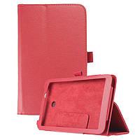 Кожаный чехол-книжка TTX с функцией подставки для  Asus MeMo Pad 7 ME70C/ME70CX Красный