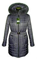 Зимняя куртка с мехом, разные цвета(р. 42-56) 23серый, фото 1