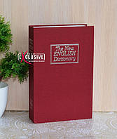 Книга сейф Английский словарь бордовый