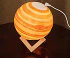 Увлажнитель воздуха - 3Д светильник Планета Уран. Диффузор-ночник Планета, фото 4
