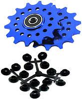 Ролики X17 алюм пром Комплект 14T, синий